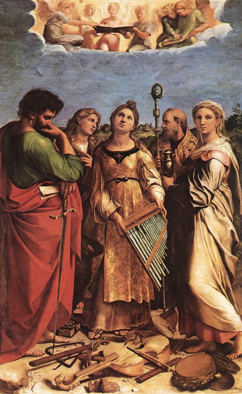 Raphael,  The Ecstasy of Saint Cecilia , 1516-17, Pinacoteca Nazionale, Bologna