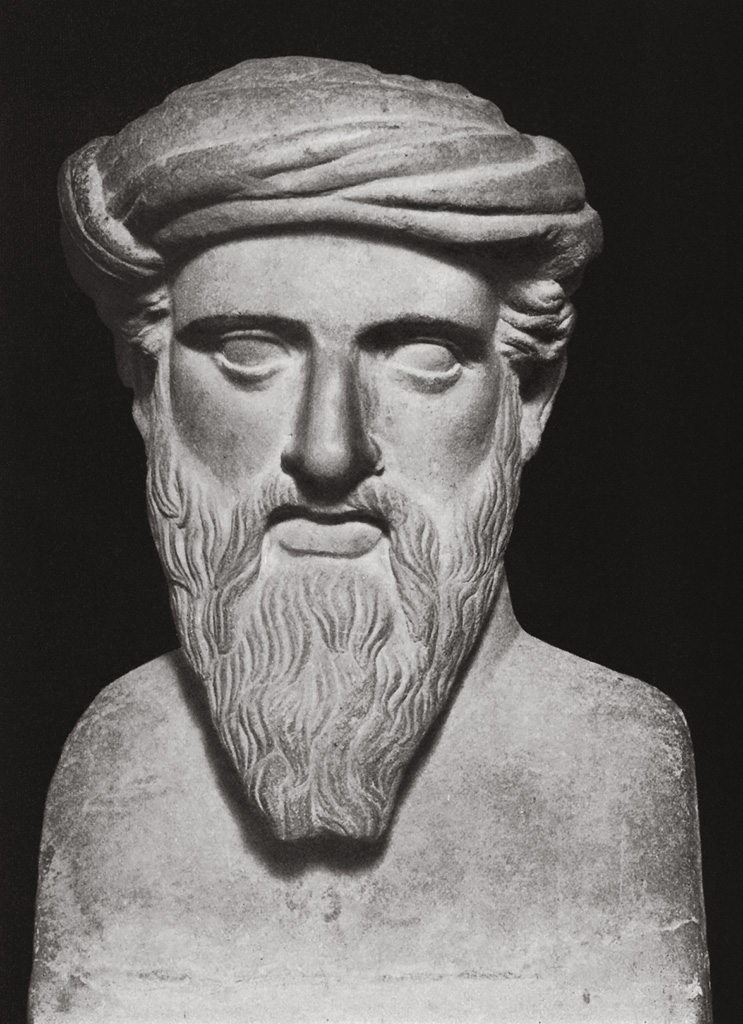 Bust of Pythagoras , Rome, Capitoline Museums, Palazzo Nuovo, Hall of the Philosophers