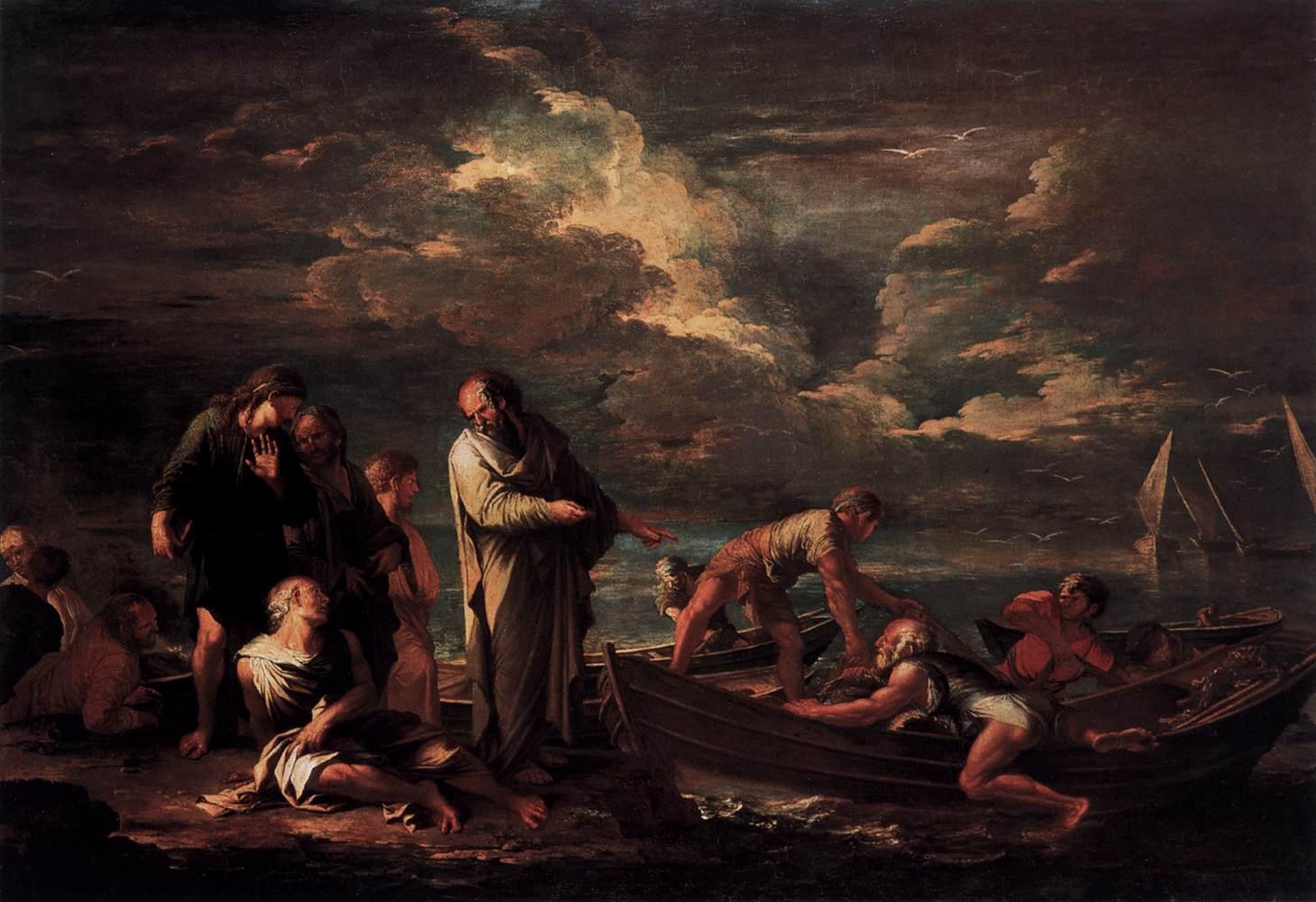 Salvator Rosa,  Pythagoras and the Fisherman , 1662,Staatliche Museen, Berlin