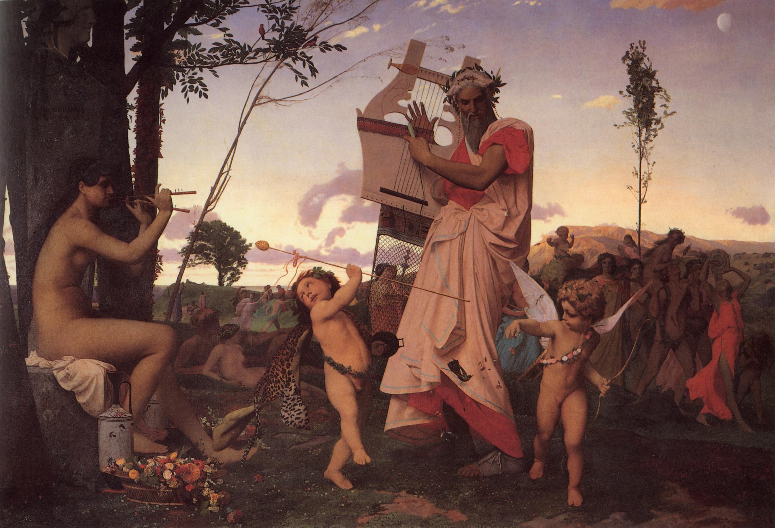 Jean-Leon Gerome, Bacchus and Anacreon Love, 1848, Musée des Augustins, Toulouse
