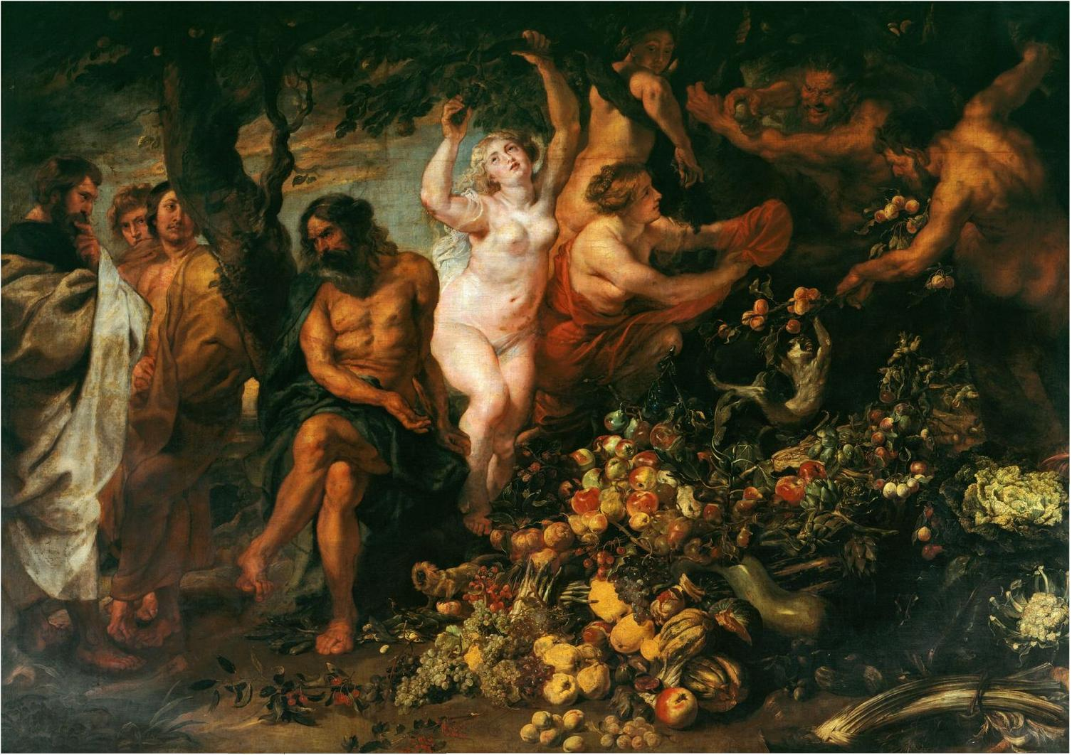 Peter Paul Rubens, Pythagoras advocating vegetarianism, 1618-20, Royal Collection