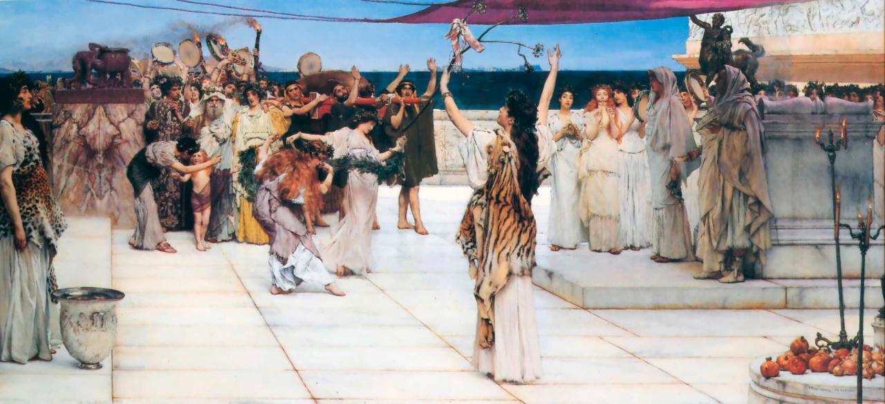 Sir Lawrence Alma-Tadema, A Dedication to Bacchus, 1889, Hamburger Kunsthalle