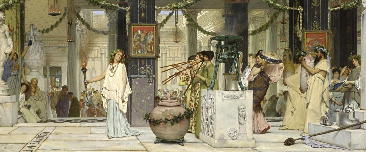 Sir Lawrence Alma-Tadema, The vintage festival, 1871, private collection