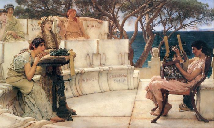 Sir Lawrence Alma-Tadema, Sappho and Alcaeus, 1881, The Walters Art Museum, Baltimore