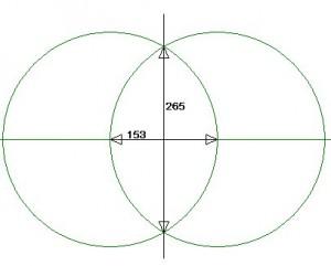 Vesica Pisces : the ratio of 265/153