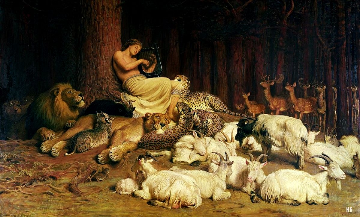Briton Riviere, Apollo Playing the Lute, 1874, Bury Art Gallery and Museum, Lancashire, UK