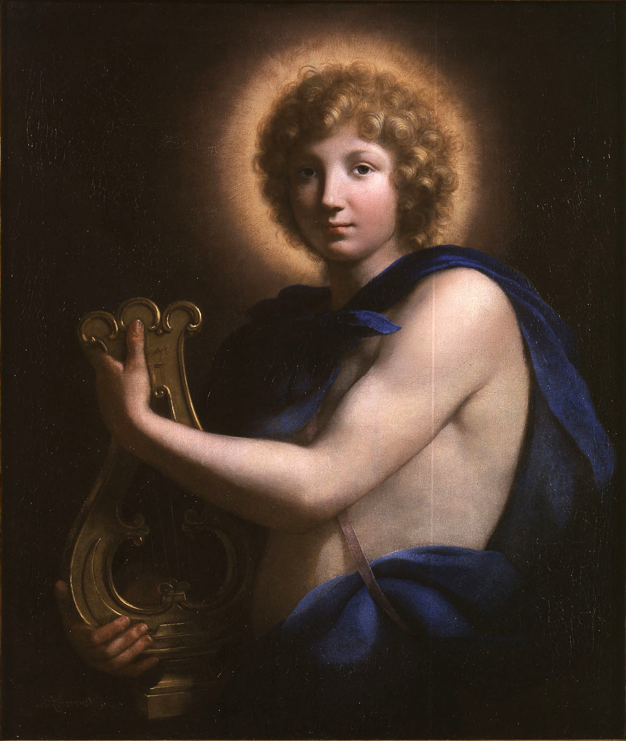 Onorio Marinari, Apollo, half-length, holding a lyre, ca. 1686, collection unknown (?)