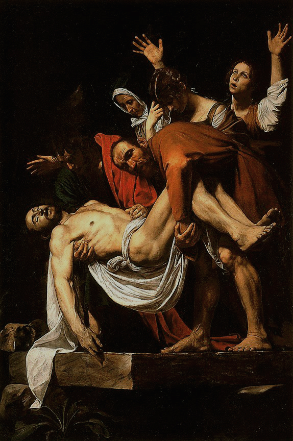 Caravaggio,  The Entombment of Christ , c.1603–1604,  Pinacoteca Vaticana , Vatican City