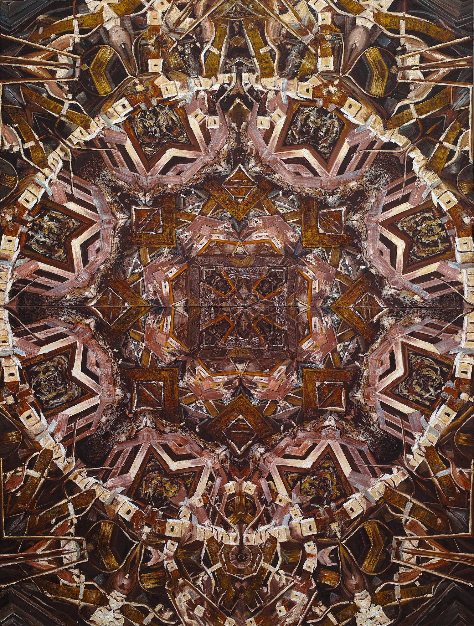 Caomin Xie,  Mandala # 12 , 2010, oil on canvas, 144 by 109 inches