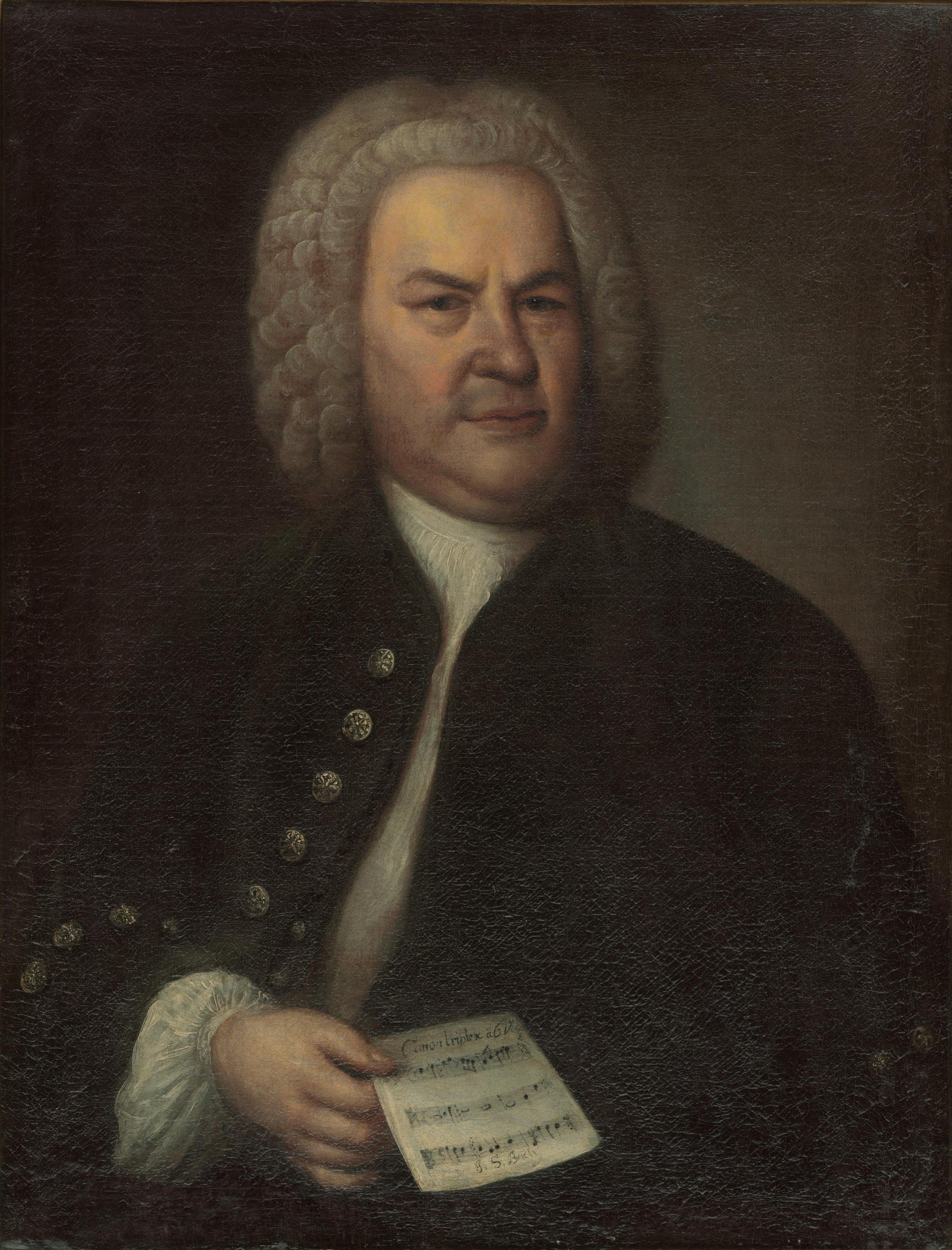 Elias Gottlob Haussmann, Portrait of J.S. Bach, 1746, Altes Rathaus Leipzig.