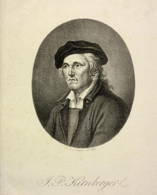 Portrait of Johann Philipp Kirnberger (1721-1783), Bach's pupil, by Heinrich Eduard Winter, Österreichische Nationalbibliothek, Bildarchiv Austria.