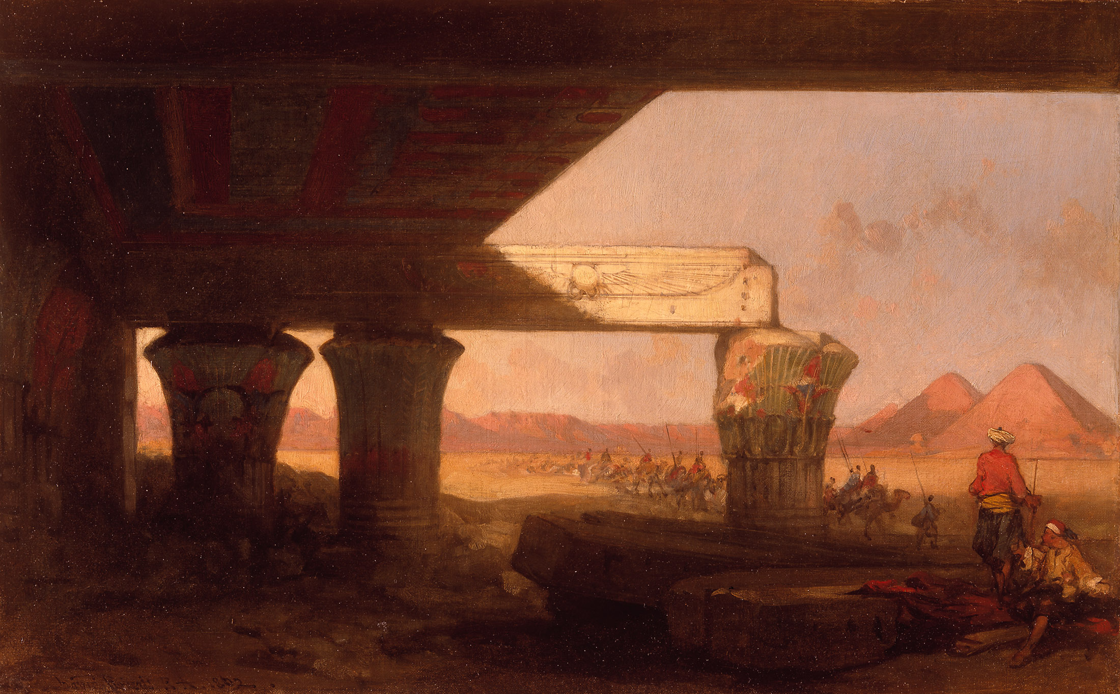 David Roberts,  Egyptian Landscape with a Distant View of the Pyramids , 1862, Berger Collection at Denver Art Museum.