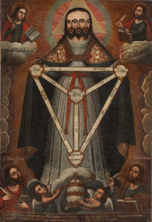 Trinidad Trifacial, Depiction of the Holy Trinity as Christ with three faces