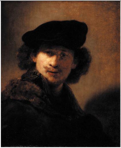 Rembrandt, Self-Portrait in Motion, oil on panel, 1634, Staatliche Museen zu Berlin – Preussischer Kulturbesitz, Gemäldegalerie