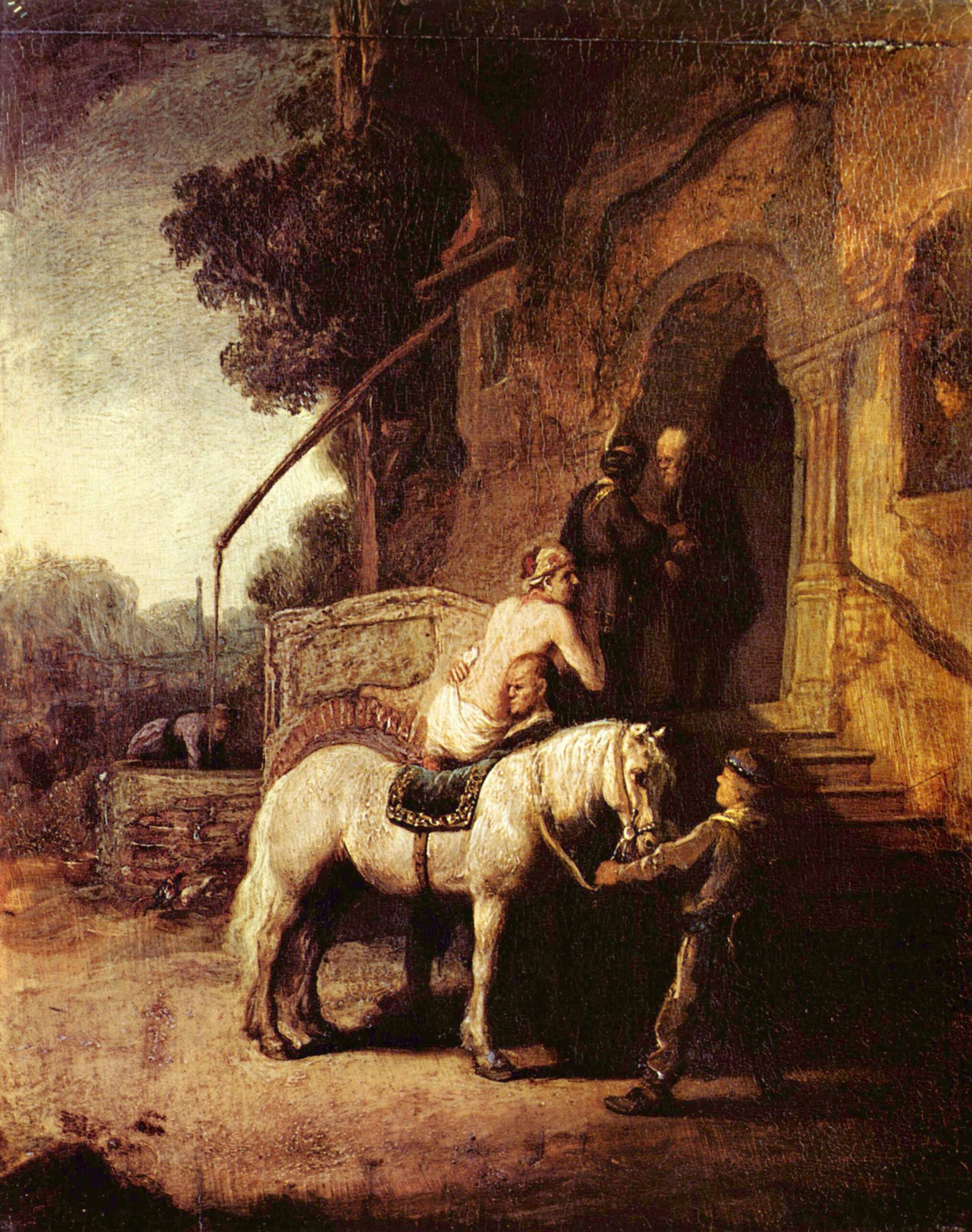 Rembrandt,  The Good Samaritan , oil on panel, 1630, Wallace Collection, London