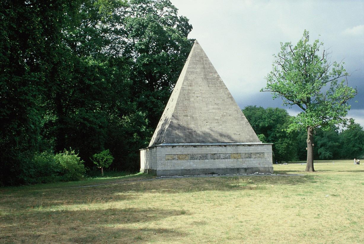 Ice house in the form of an Egyptian pyramid in the New Garden, Potsdam.