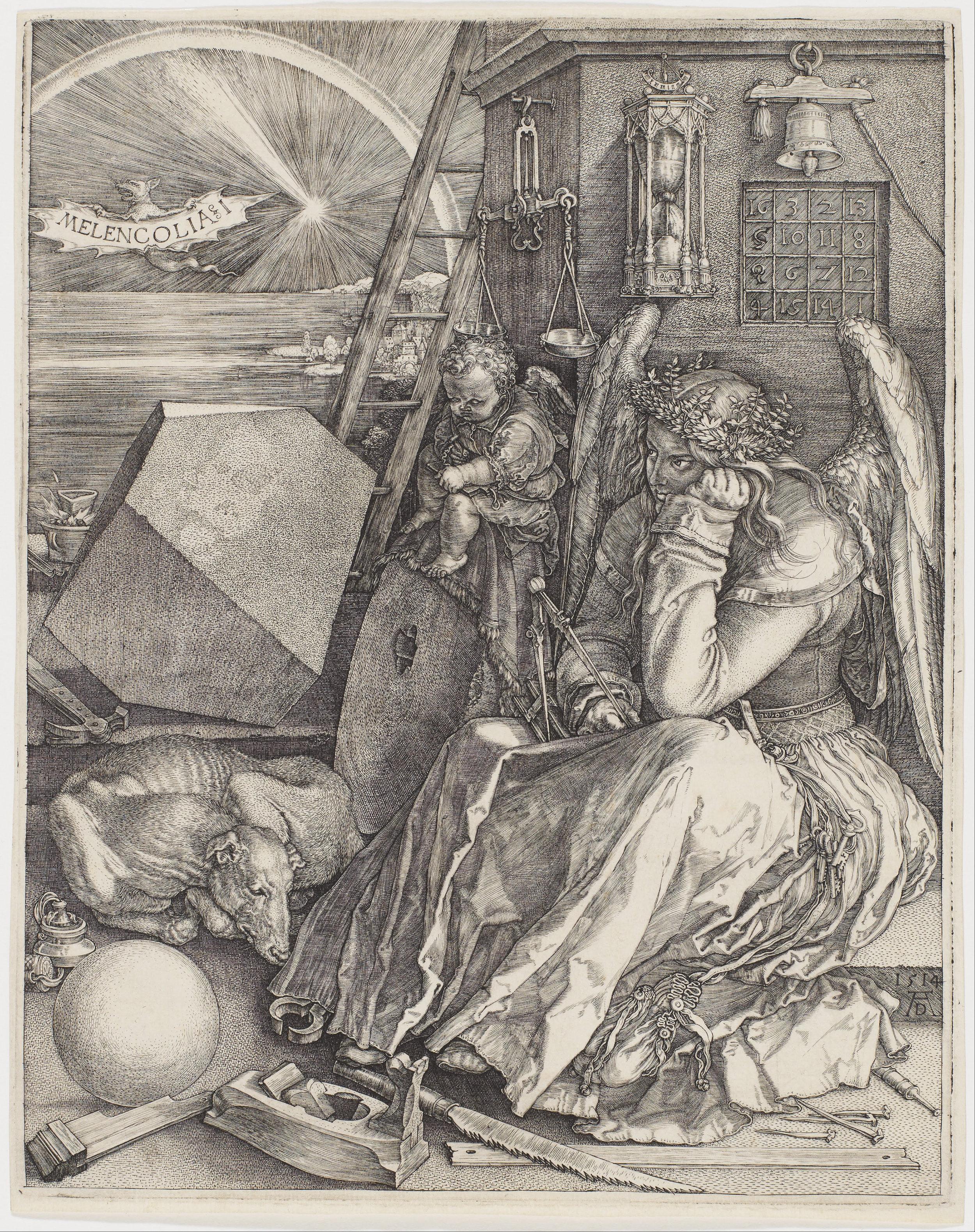 Albrecht Dürer's engraving  Melencolia §I  (1514)