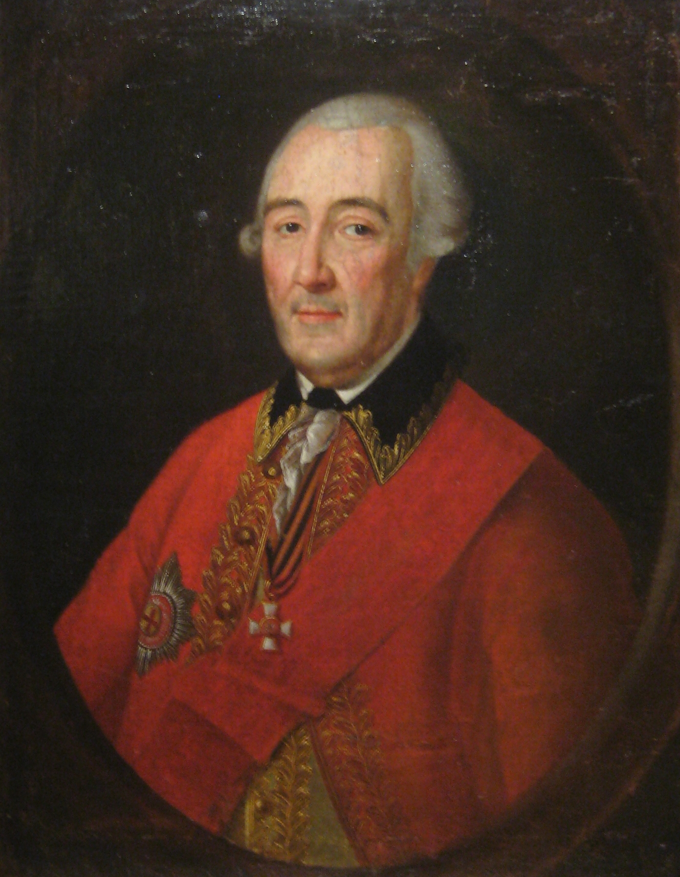 Josef Friedrich August Darbes, A portrait of General of the Artillery Pyotr Melissino (responsible for the Melissino Rite), circa 1773-80, Kursk Gallery