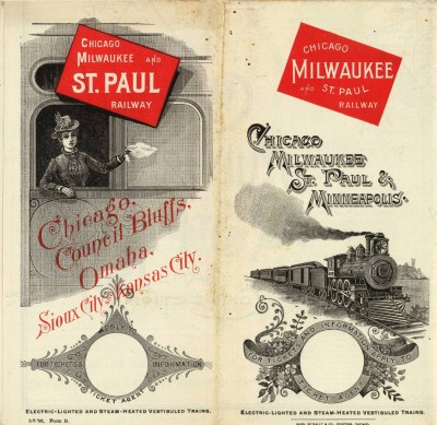 Map of the Chicago, Milwaukee & St. Paul Railway Company from 1893. Courtesy of David Rumsey Map Collection via ForgottenChicago.com