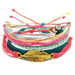 Pura vida bracelets   Every bracelet purchased helps provide full-time jobs for local artisans in Costa Rica.    www.puravidabracelets.com