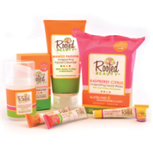 Rooted beauty   Each Rooted Beauty skincare product helps a woman escape from extreme poverty and trafficking through their Woman2Woman Project. Their partnering organizations use the funds they raise through Woman2Woman projects to provide each woman with vocational training and recovery counseling.      www.rootedbeauty.com