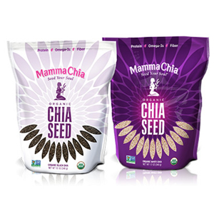 mamma chia   This company make organic chia-based foods and beverages that provide vitality, energy and strength.  This company is a member of 1% For the Planet as well as other organizations that support farmers building healthy local food systems.     www.mammachia.com