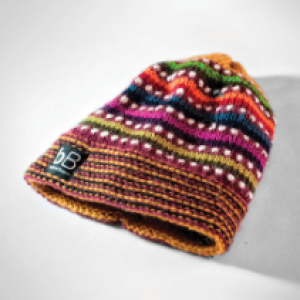 beyond beanie   They make a large collection of beanies, headbands and other outerwear. With every purchase you make, you empower an artisan and help children in need in Bolivia.     http://beyondbeanie.org