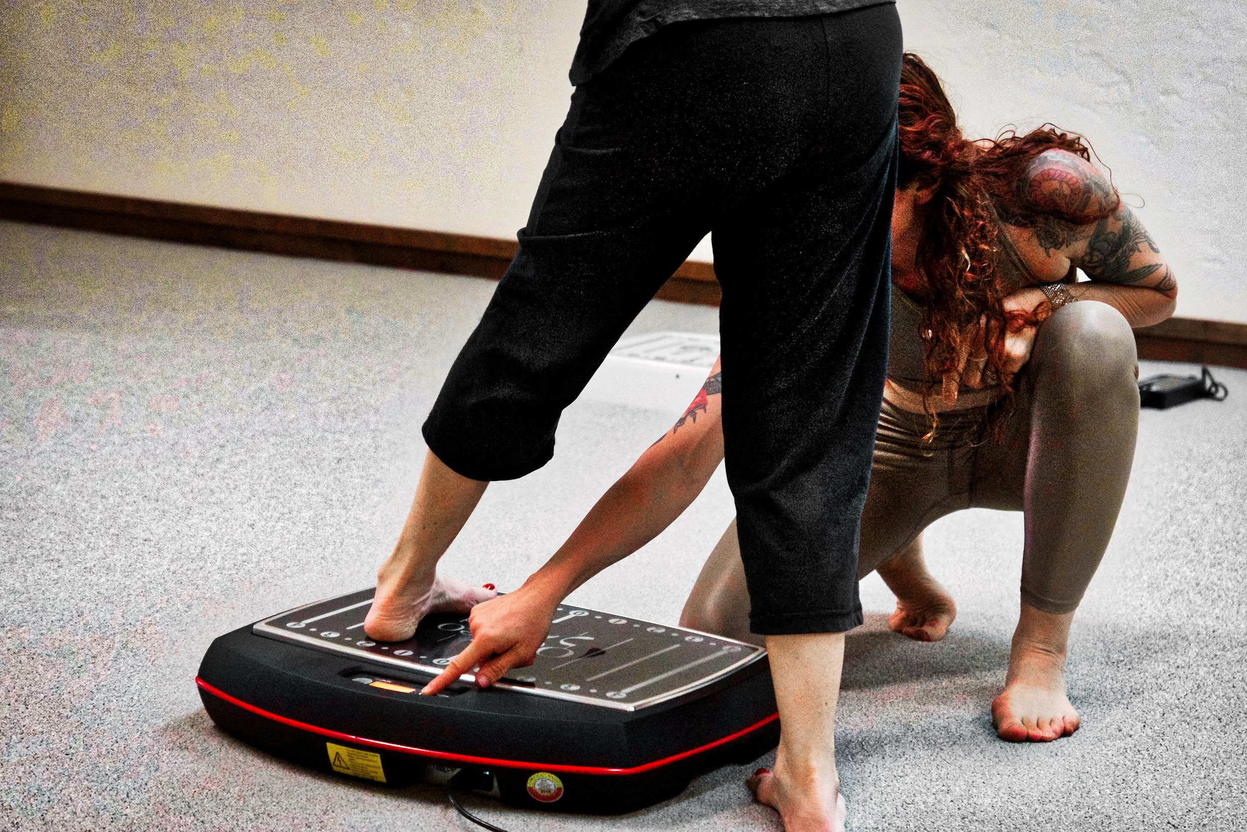 Tuesdays 6:15-7 PM through September  Cost: $30 drop in or $75 for the 3 class series  Strengthen and tone your body using whole body vibration Galileo plates combined with the support of the yoga trapeze and resistance bands. This 45 minute group class is designed for beginner students.  Your space is reserved for all 3 classes upon receipt of $75, or  contact Domini  to inquire about an individual drop in.  Payment can be made through Venmo to dominianne@gmail.com or by cash/check.