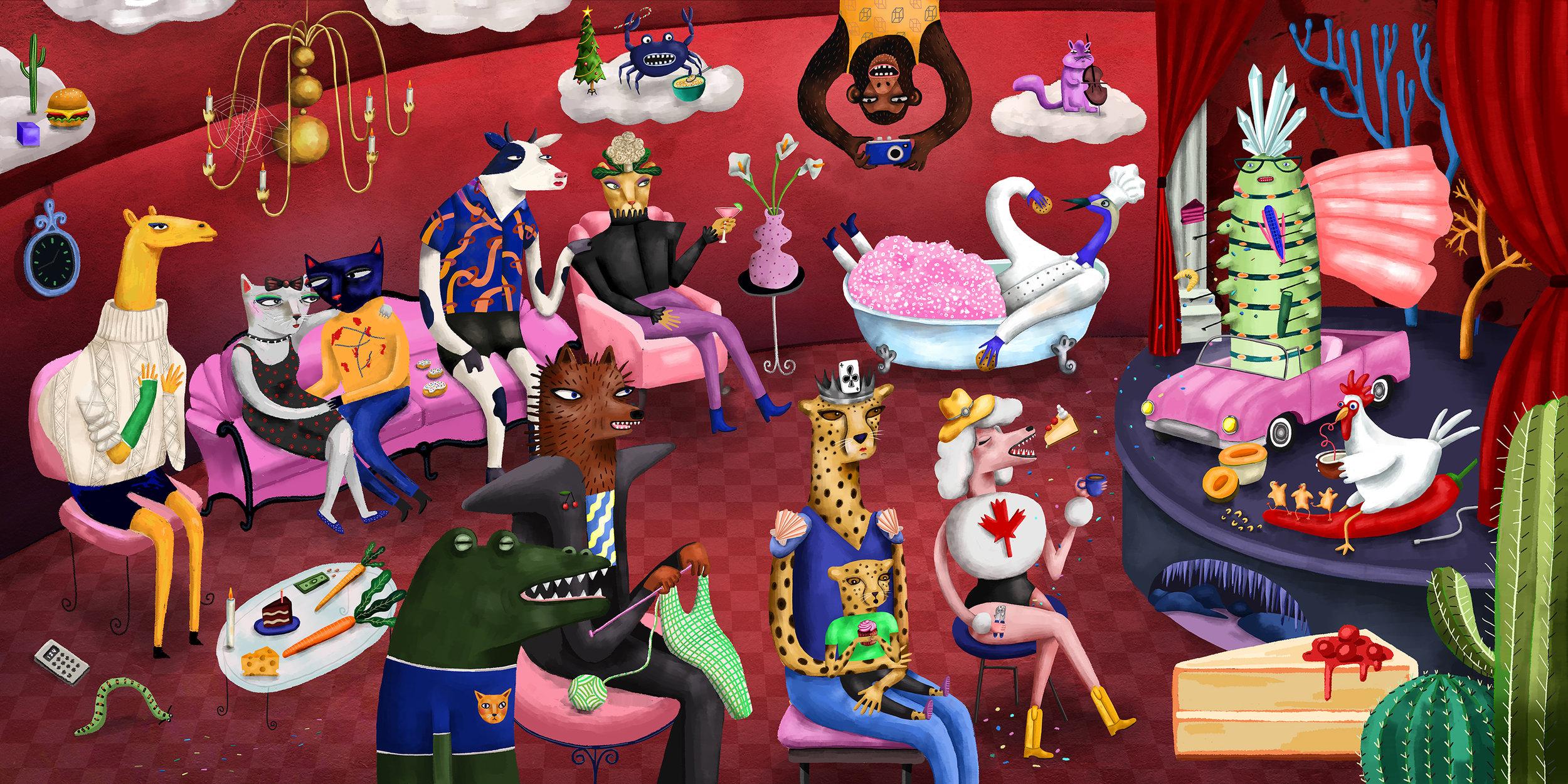 Cabaret Caterpillar Print: $15-$80 -