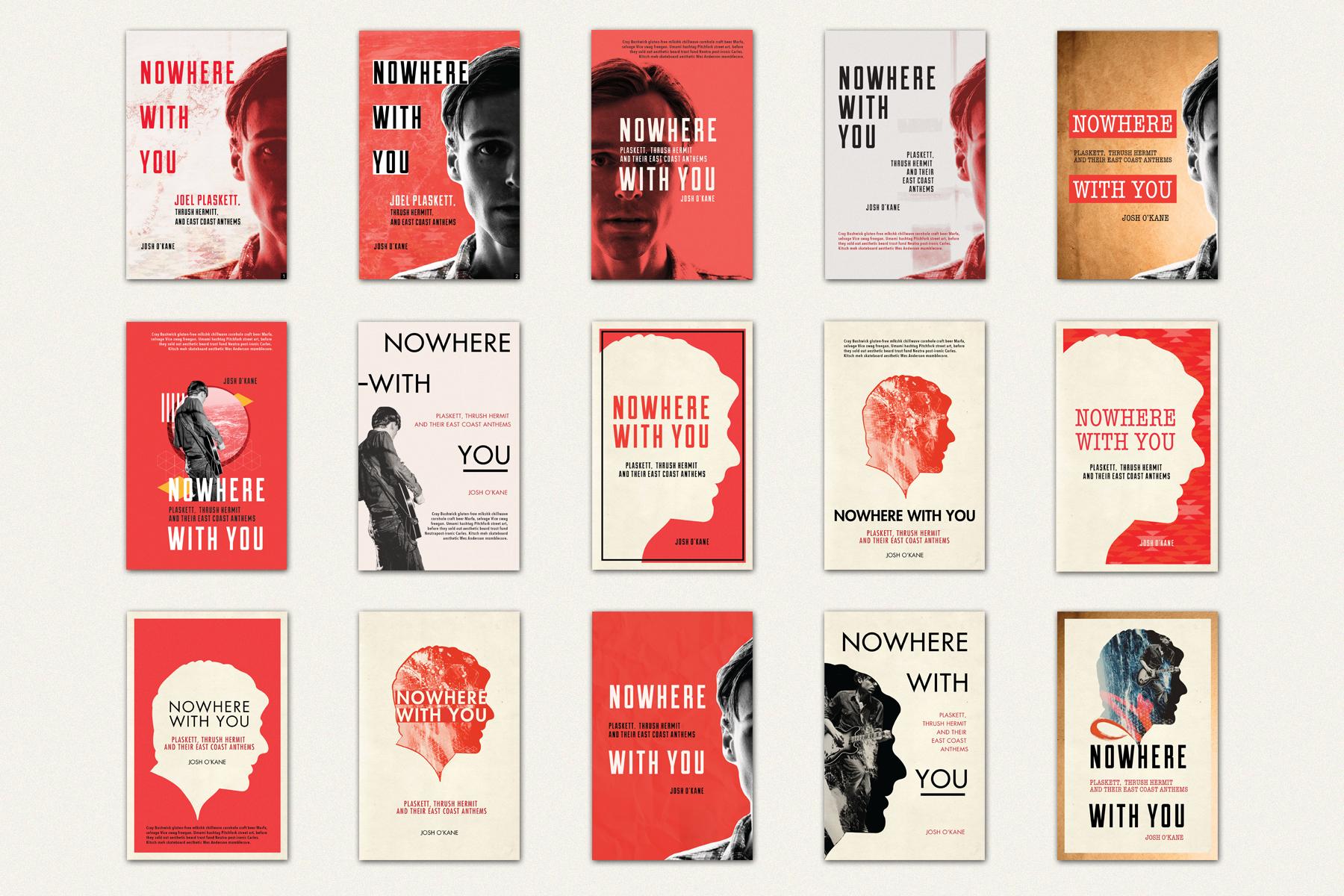 Book Cover Rough Concepts and Progression