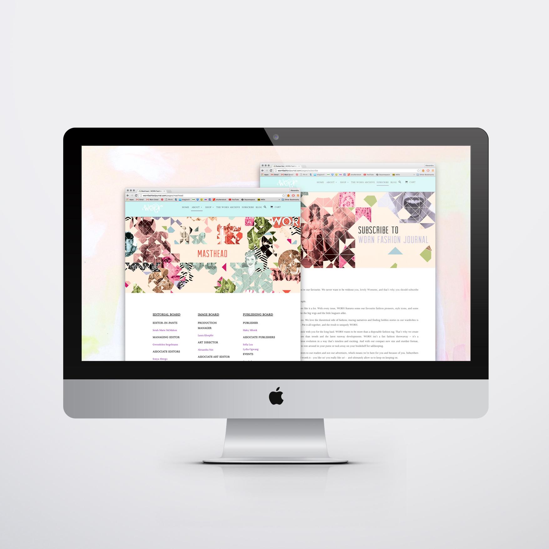 WORN Website Header Graphics