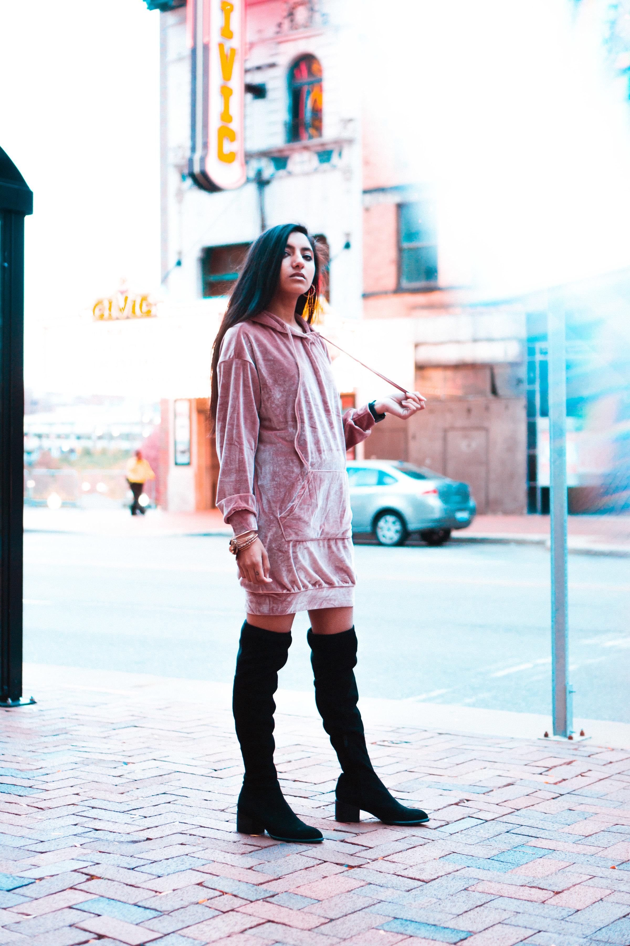fashionblogger nyc ohio akron velvet romwe cleveland outfit shoot photography