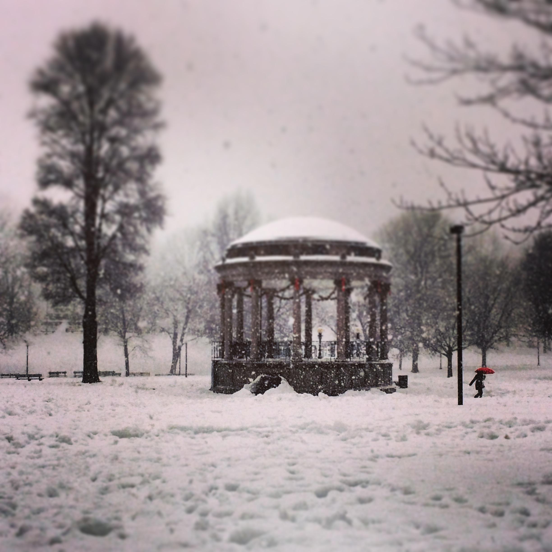 Boston last year,less snowy than this year