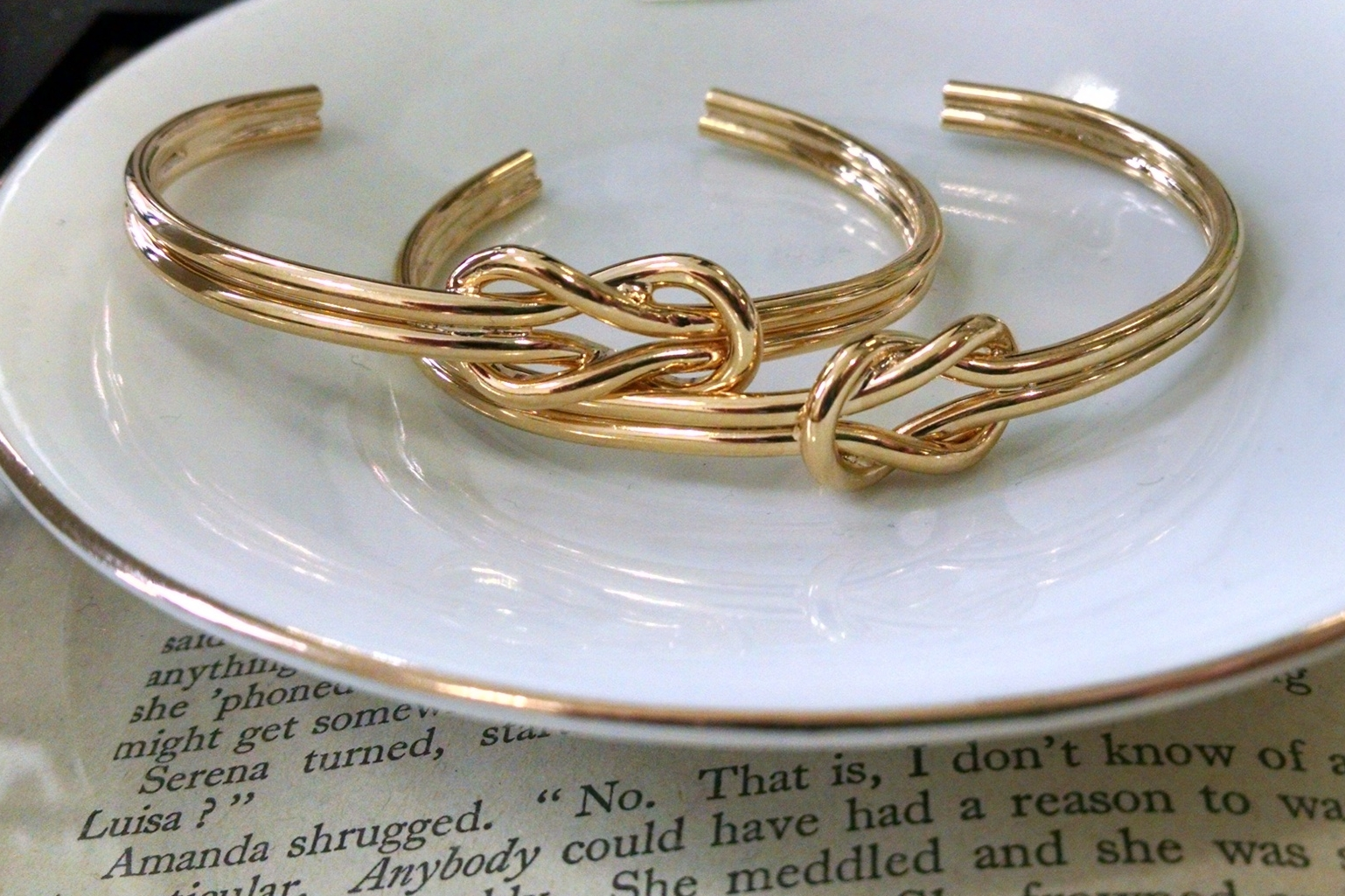 Lover's Knot Cuff in 14kt gold ($42)