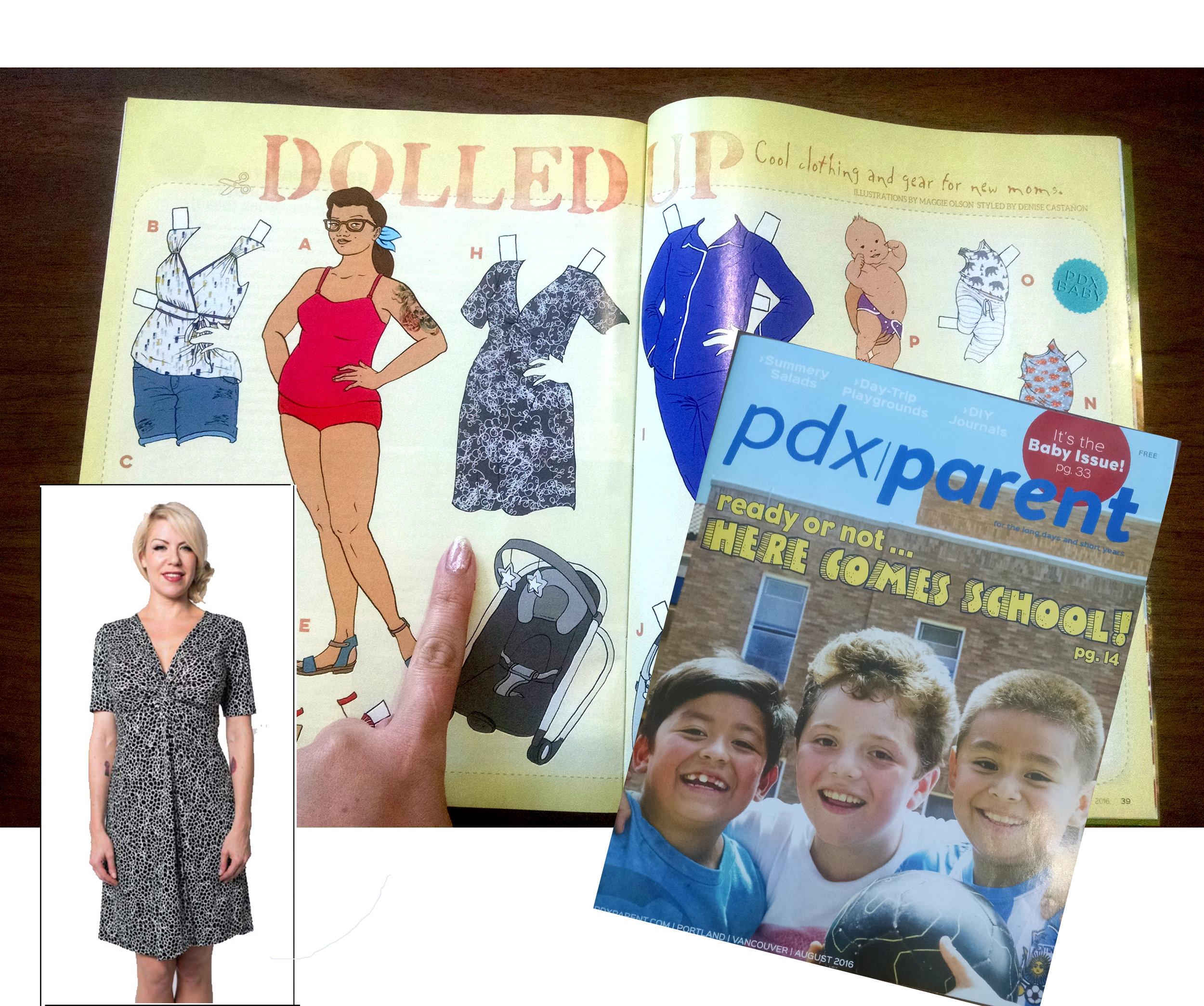 PDX Parent - August 2016  (shop featured, dress made by  Hubris Apparel )