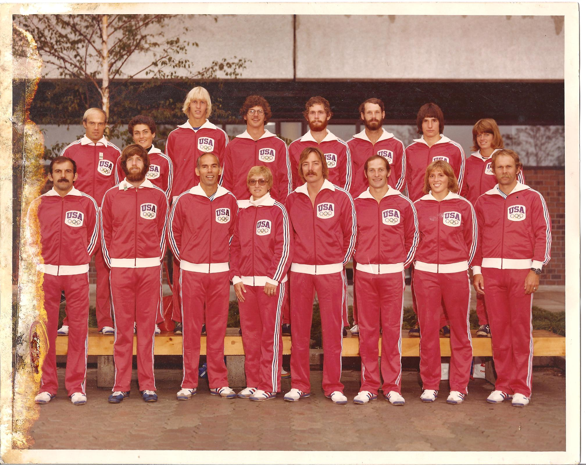 ICC Member Steve Kelly, bottom row second from left, with the 1976 Olympic team