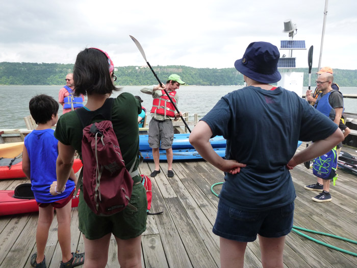 Every Open House trip begins with a paddling demonstration - this time, by Brad.
