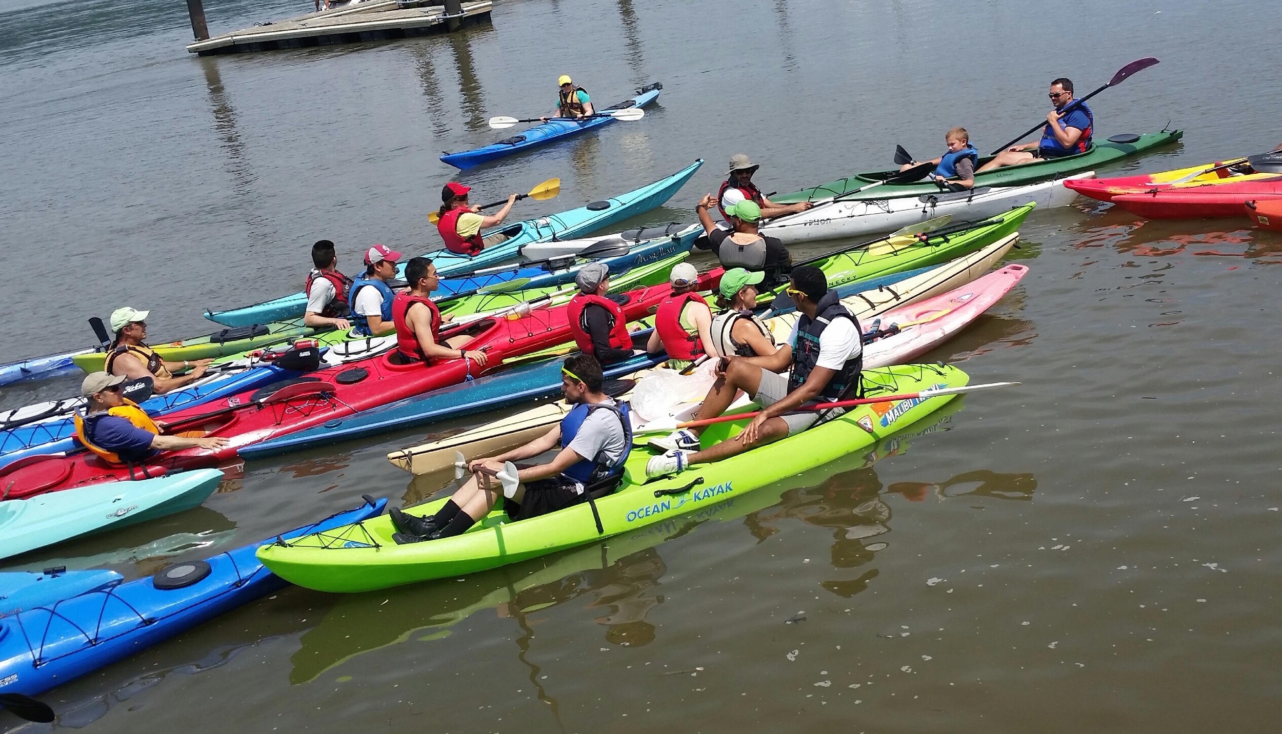Lots of paddlers turned out for an beautiful July day on the Hudson.