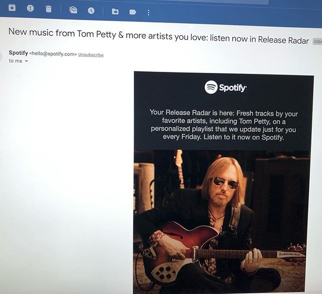 Sit down, @spotify I've got some bad news.  #riptompetty