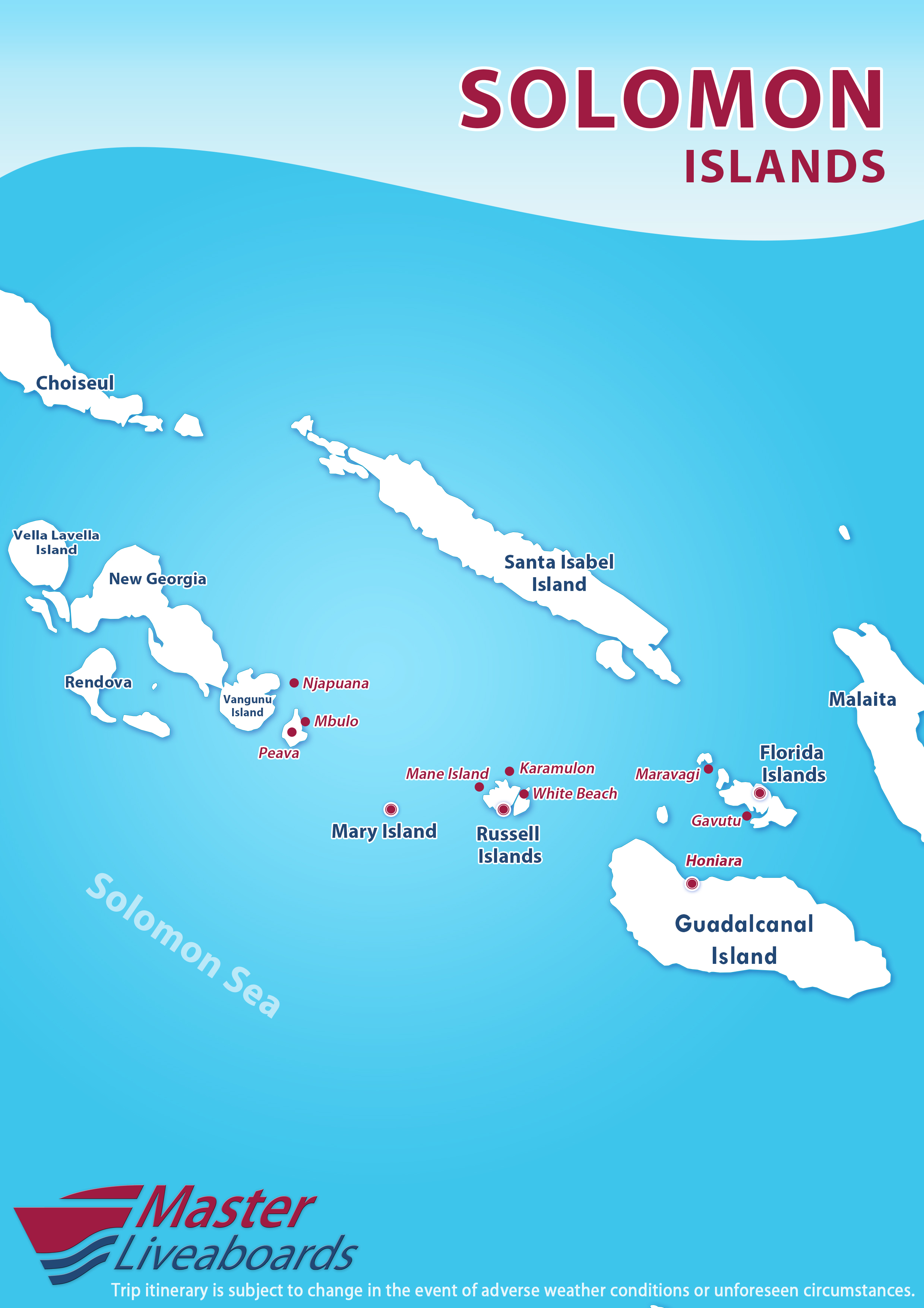 Best of the Solomon Islands Itinerary