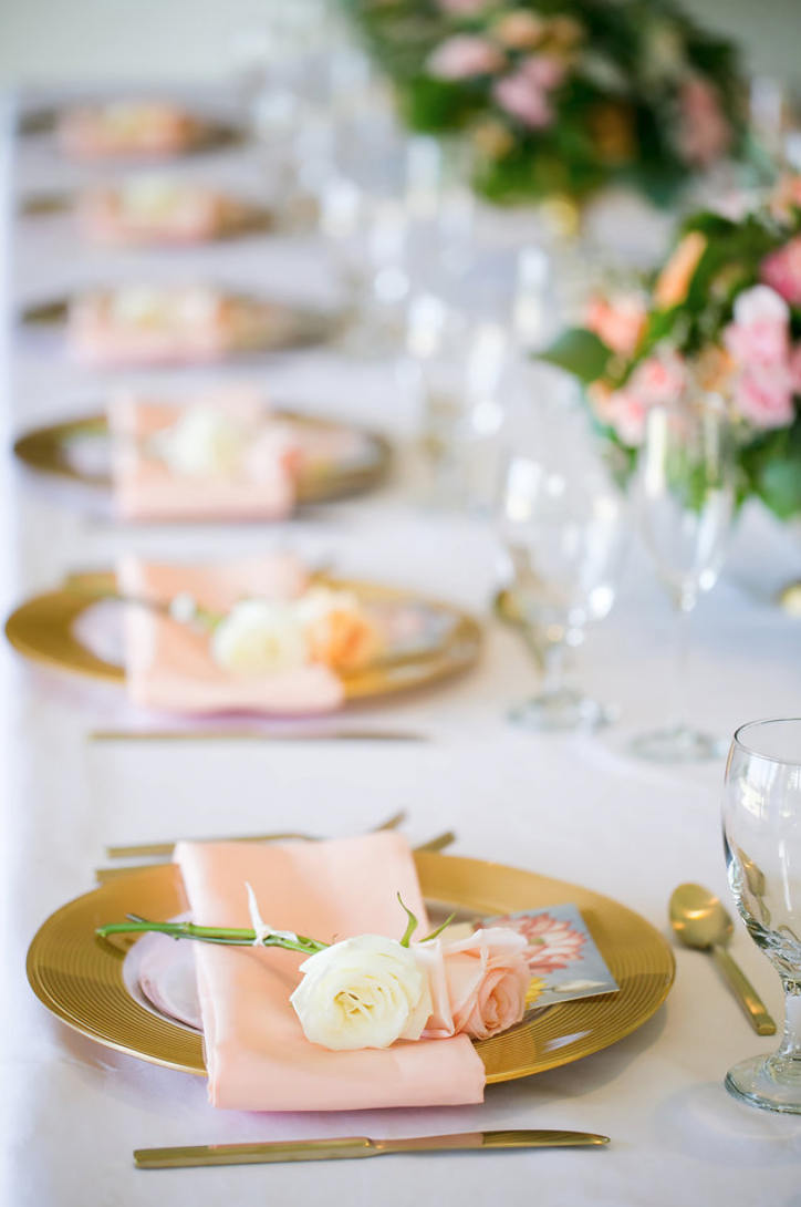 Elegant Place Settings at this Elopement Dinner Party