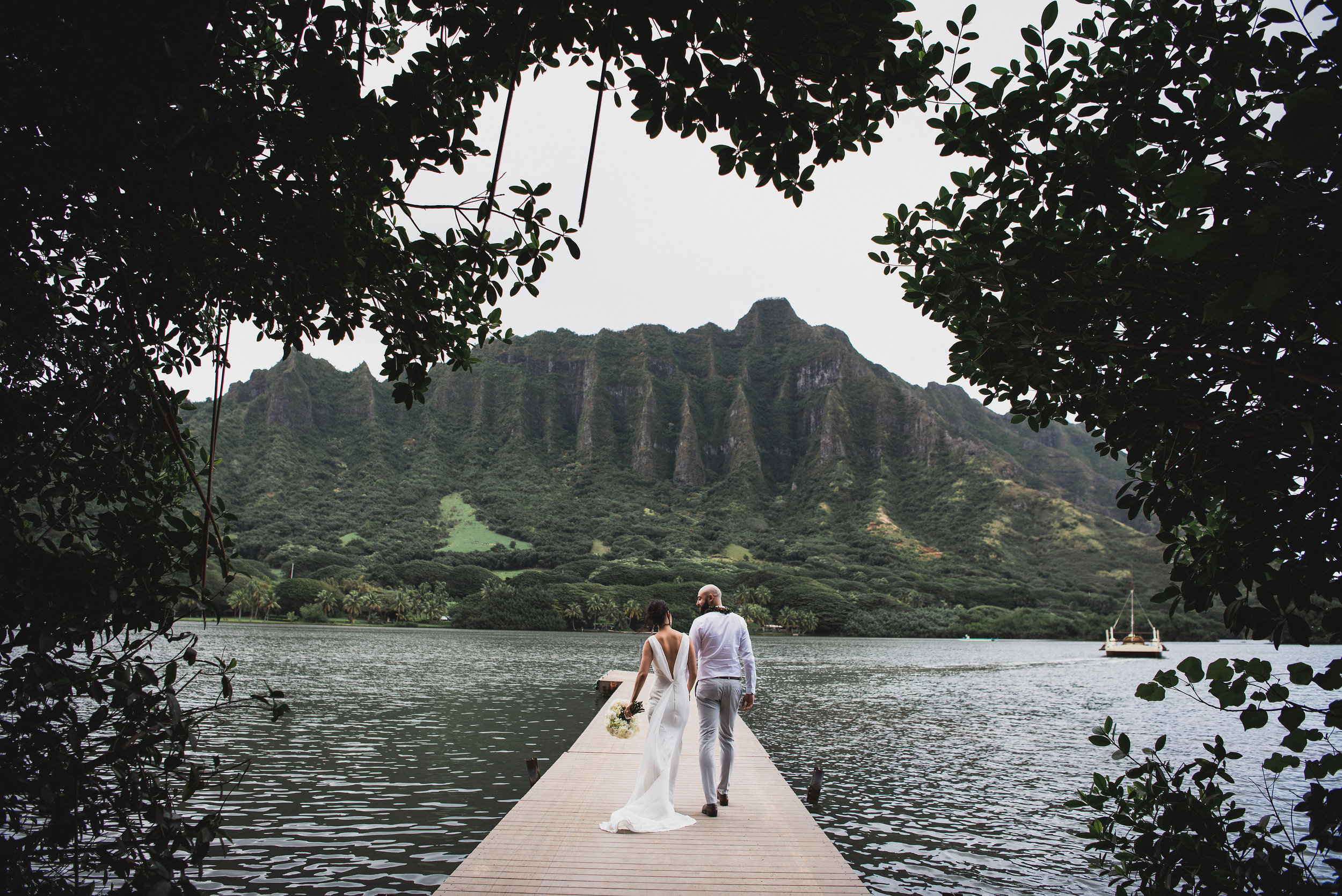 A Beautiful, Ocean Front, Elopement on the Island of Oahu