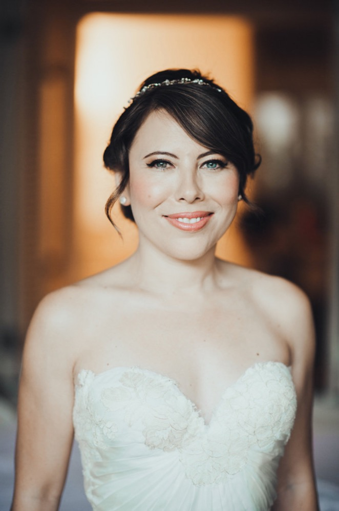 A Stunning Bride on Her Elopement Day