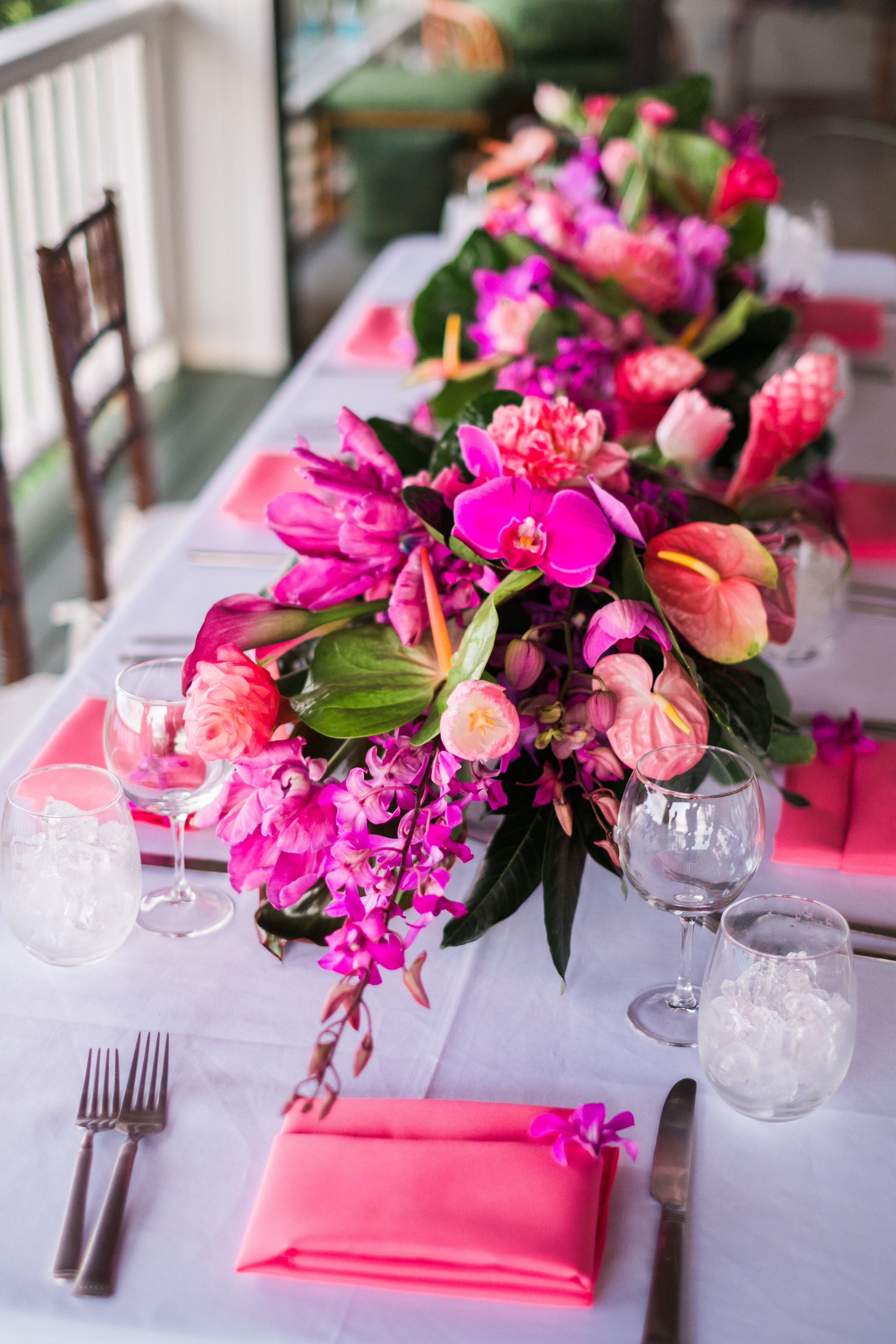 Vibrant Centerpieces Decorate this Intimate Elopement Dinner Party