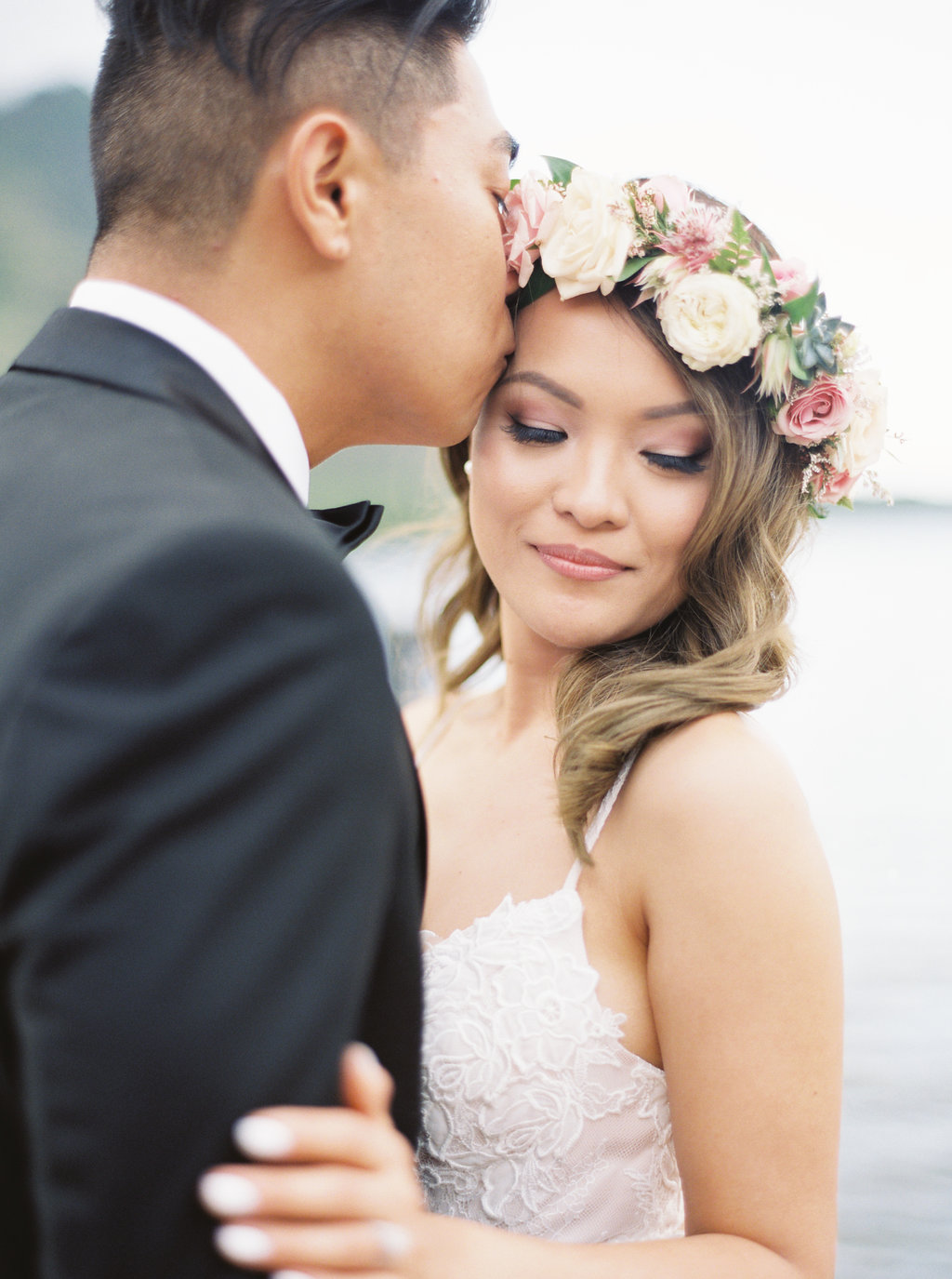 This Bride Looked Dazzling in her Flower Crown
