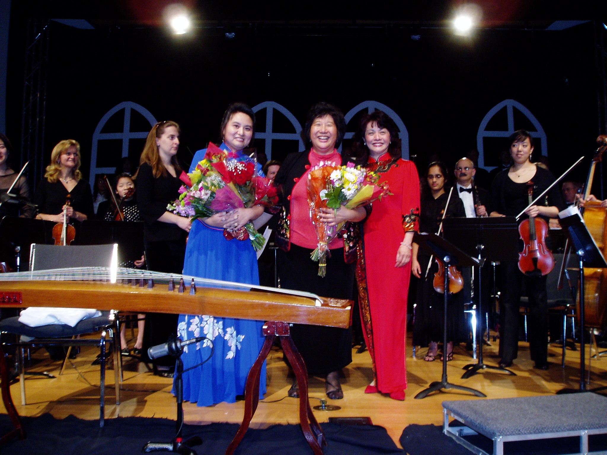 Jubilent performers concluding amagnificent concert!