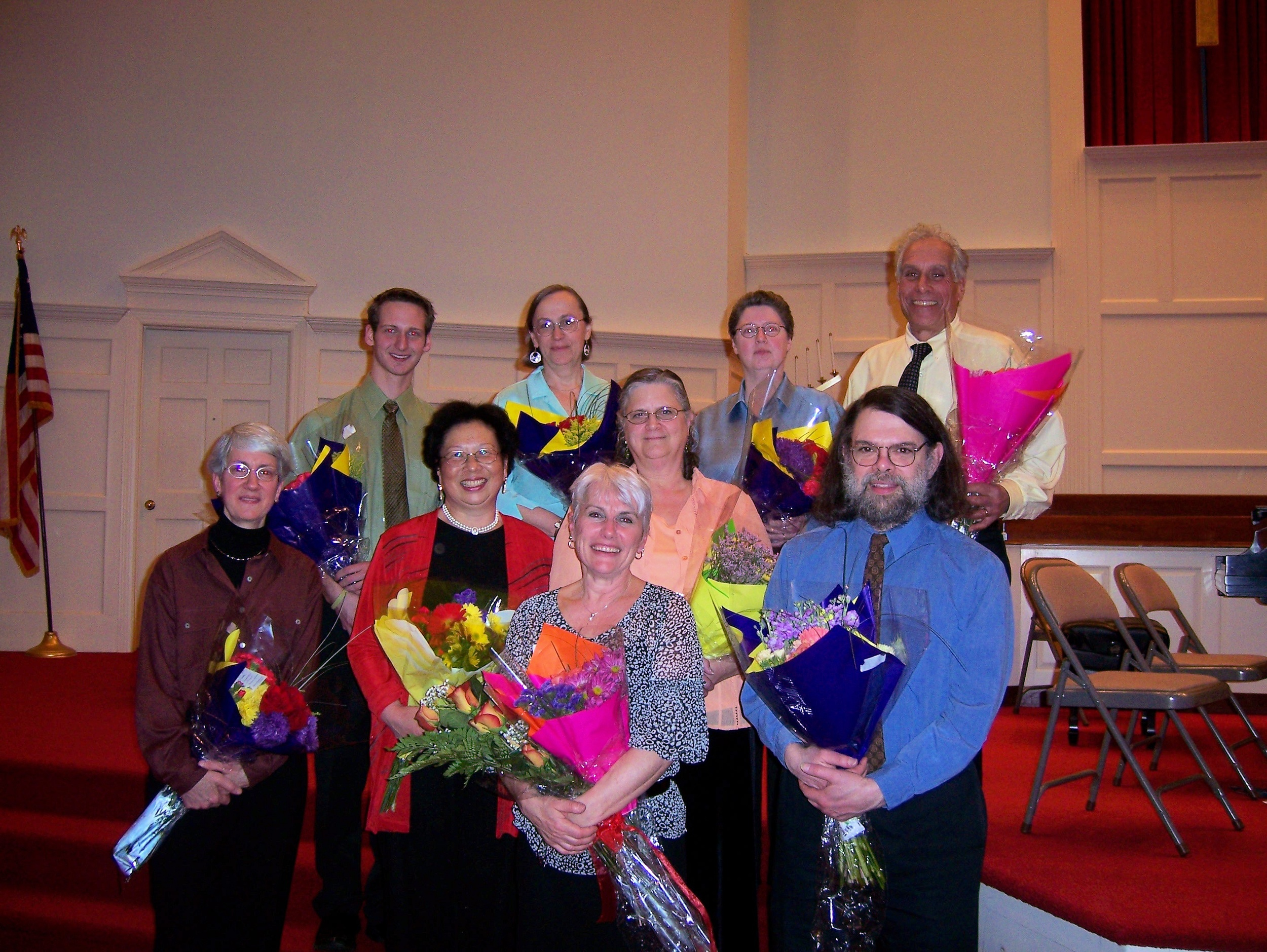 The Bravura Philharmonic Chamber Players Back Row: Chris Hansel, Melissa Bohl, Debra Gers, Ed Ziegman Middle Row: Barbara Williams, Chiu-Ling Lin, Elizabeth Randolph Front Row: Sylvie Webb, Ron Sverdlove