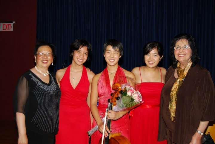 Trio with New Jersey Music Teachers Association Presidents, Dr. Chiu-Ling Lin & Lillian Livingston