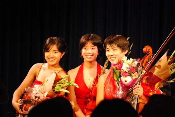 Bravura Young Virtuoso Trio following a successful performance