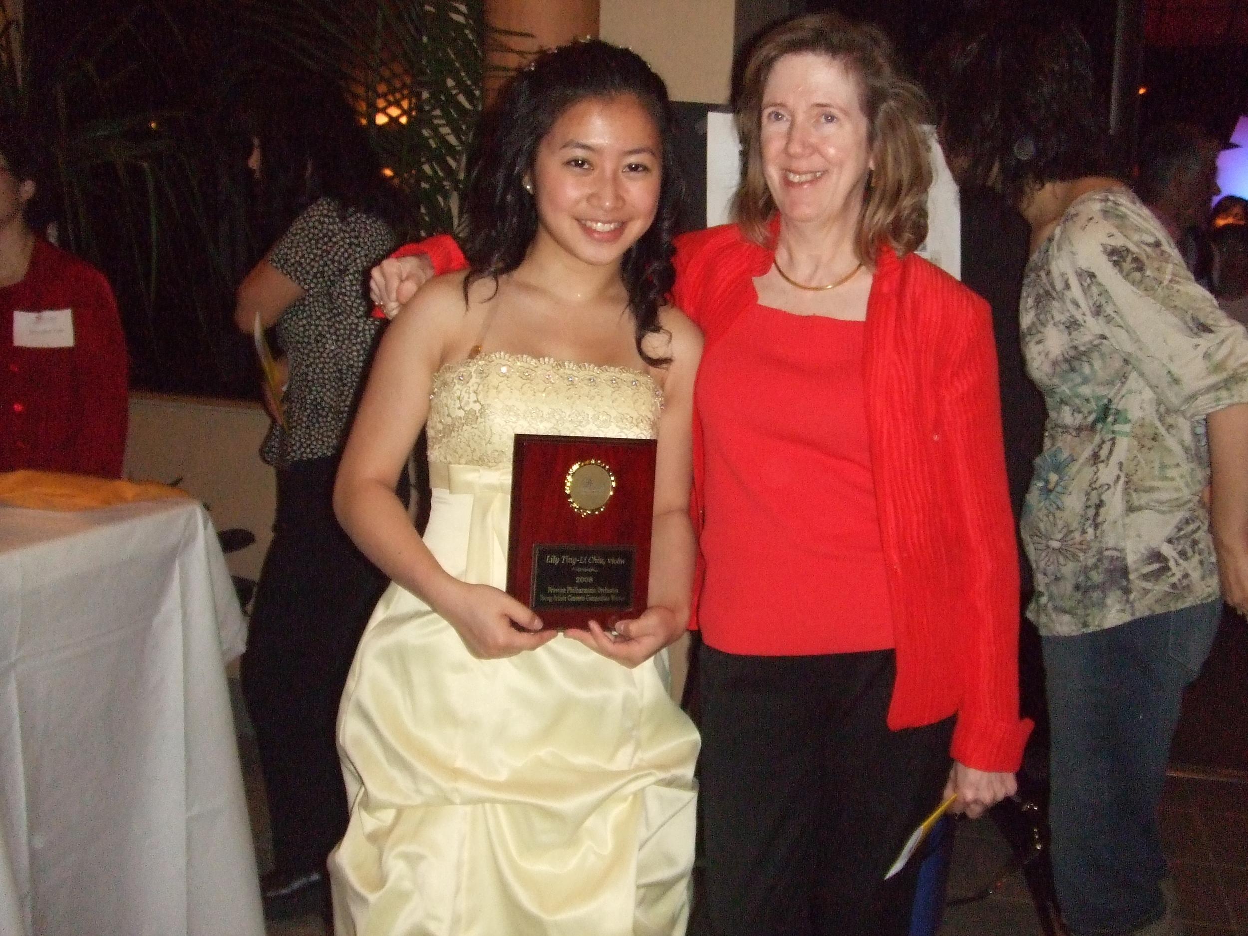 Lily Chiu and teacher, Ann Setzer